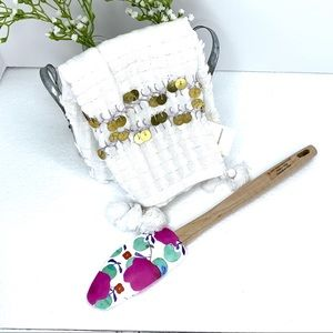 Anthropologie Golden Garland Dish Towel & Spatula
